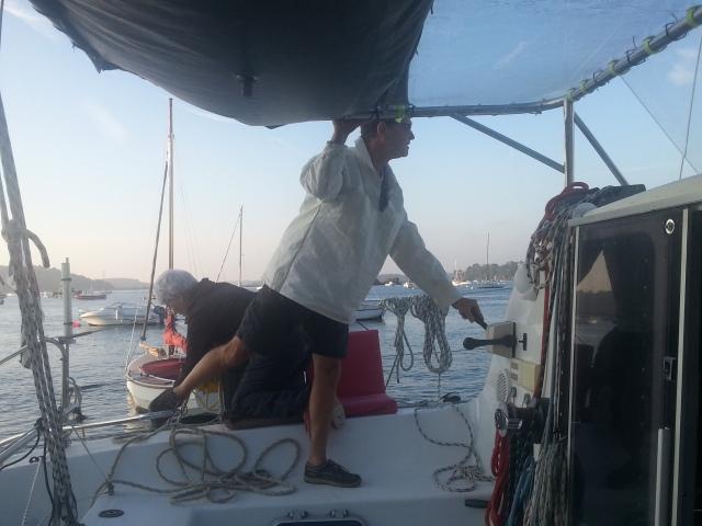 manoeuvre du bateau